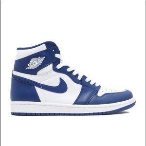 54d86a494e463 Nike Shoes | Jordan 1 Retro Storm Blue | Poshmark